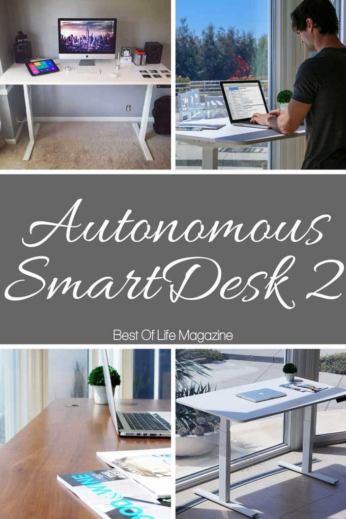Feel the health benefits of a sit to stand desk by standing at the Autonomous SmartDesk 2 instead of sitting at your desk for hours each day. Tech Tips | Work Tips | Smart Desk | Standing Desk #desk #health via @amybarseghian