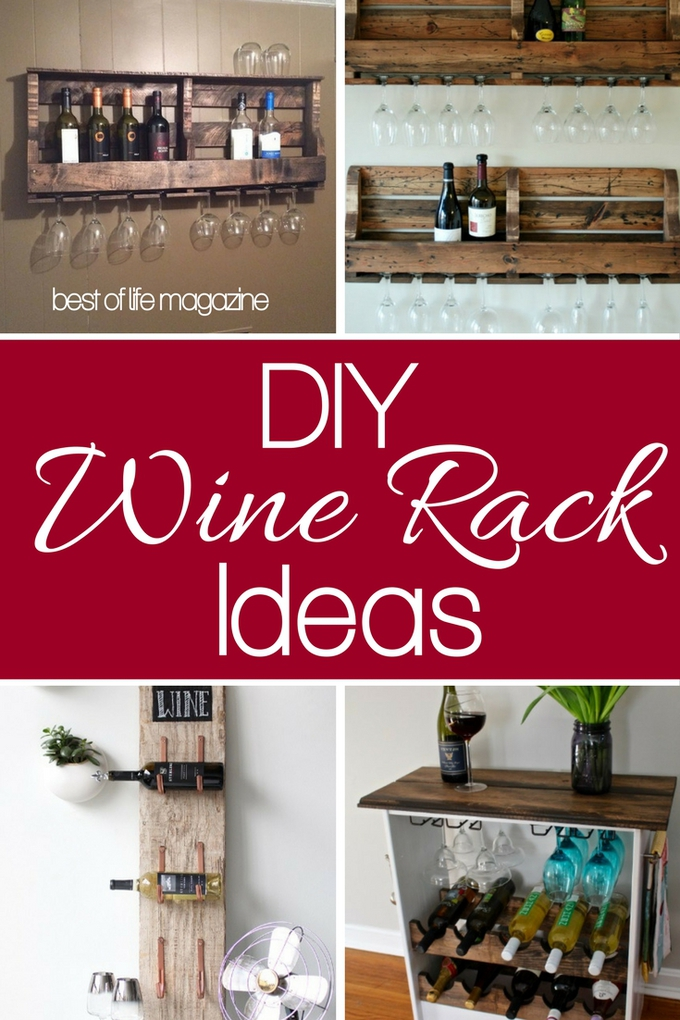 A DIY wine rack will help you showcase your wine in a unique way that only you can imagine and is one of the essential ideas for wine lovers. DIY Crafts | DIY Wine Racks | DIY Projects | Wine Storage Ideas #wine #DIY