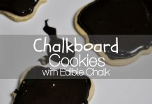 Make these chalkboard cookies with edible chalk to express your feelings on any holiday. They make the perfect teacher gift from your child, too!