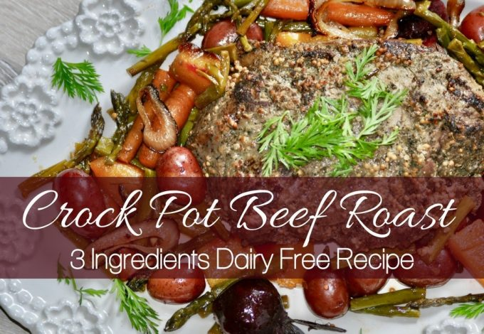 Enjoy this easy crock pot beef roast with vegetables any night of the week. It's perfect for food allergies as this is a dairy free crock pot roast recipe. How to Make Roast Beef in a Crockpot | Crockpot Roast Beef | Roast Beef Recipe | Crockpot Beef Recipe | Slow Cooker Beef Recipes | Slow Cooker Beef Roast