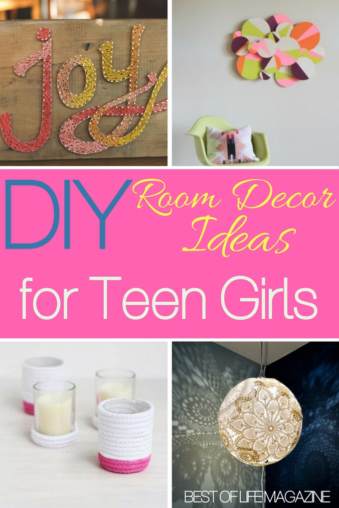 Use the best DIY room decor ideas to help you decorate your teen girl's room to her liking and save a bit of money along the way. DIY Decor Ideas | DIY Ideas for Teens | DIY Ideas for Girls | Home DIY Ideas #DIY
