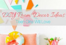 Use the best DIY room decor ideas to help you decorate your teen girl's room to her liking and save a bit of money along the way.