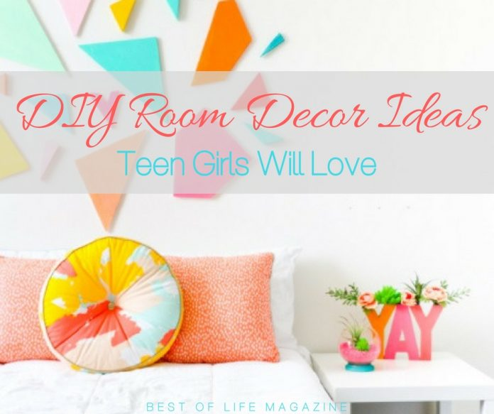 Use the best DIY room decor ideas to help you decorate your teen girl's room to her liking and save a bit of money along the way. DIY IDeas | DIY Decor | Decor for Teen Girls | Decor for Kids Room | DIY Crafts | DIY Design Ideas