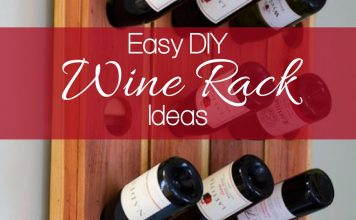 A DIY wine rack will help you showcase your wine in a unique way that only you can imagine and is one of the essential ideas for wine lovers.