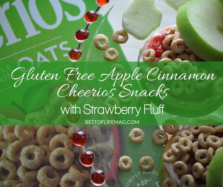 Gluten Free Apple Cinnamon Cheerios Snacks with Strawberry Fluff - Best of Life Magazine