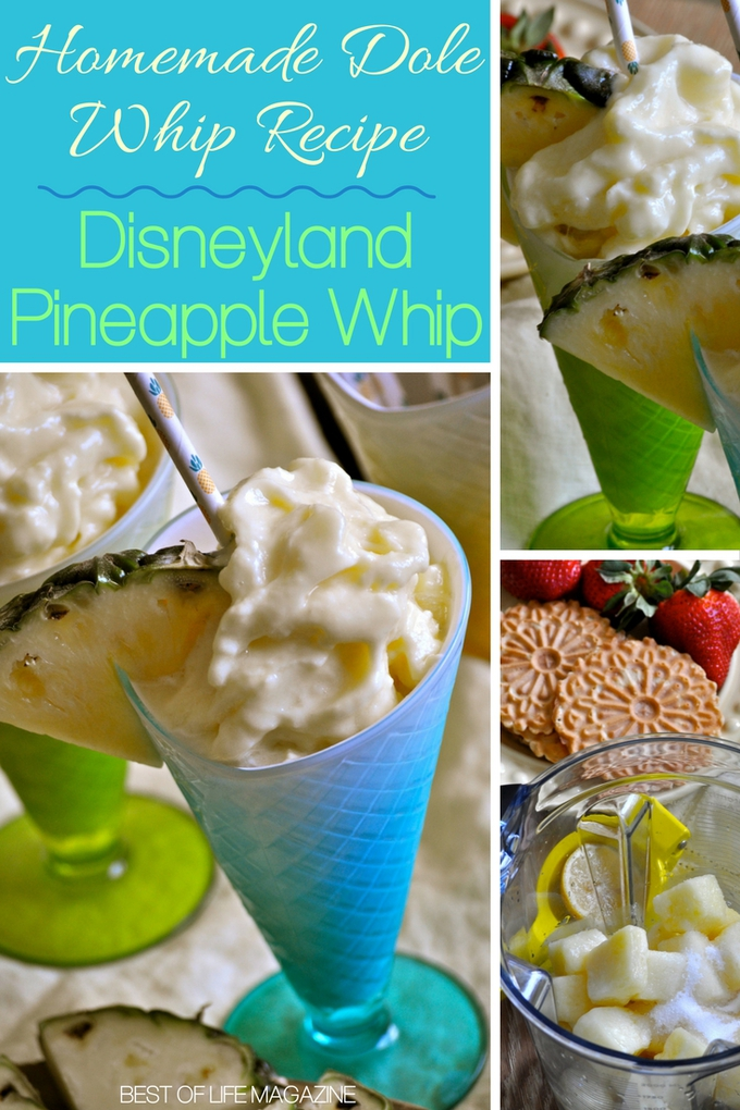 Making this homemade Dole Whip recipe is so easy, fun, and delicious that the hardest part will be sharing the Disneyland pineapple whip. Disneyland Treats | Disneyland Recipes | Disneyland Tips | Dole Whip Recipes | Pineapple Desserts #disneyland #snacks