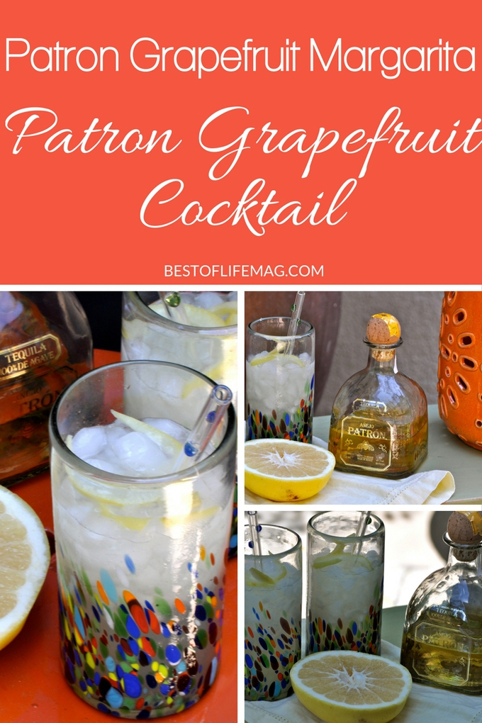 Making a Patron Grapefruit Cocktail is easy! This Patron Grapefruit Margarita recipe is simple, delicious, and perfectly refreshing. Everyone will love it! Margarita Recipes | Patron Cocktail Recipes | Happy Hour Recipes | Grapefruit Recipes | Cocktail Recipes | How to Make a Margarita #margarita #patron