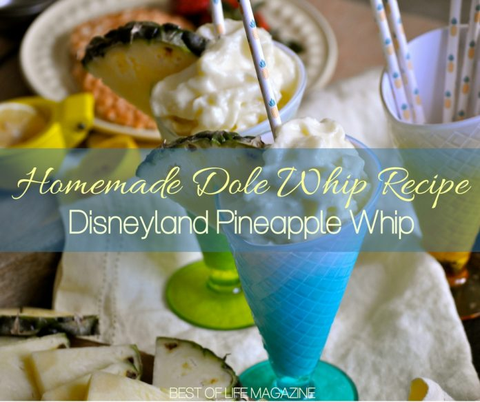 Making this homemade Dole Whip recipe is so easy, fun, and delicious that the hardest part will be sharing the Disneyland pineapple whip.