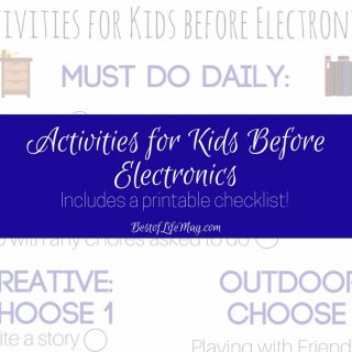 A printable checklist is perfect for summer break. Activities for kids before electronics is a great way to keep kids off the screens and out enjoying life. Things to do for Kids | No Electonic Activities for Kids | Things to do Before Electronics | Healthy Activities for Kids