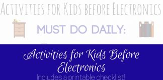 A printable checklist is perfect for summer break. Activities for kids before electronics is a great way to keep kids off the screens and out enjoying life.