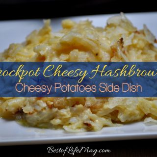 This recipe for Crockpot cheesy hashbrowns is the perfect cheesy potatoes side dish. Plus, they're so easy to make you'll love making them too! Easy Breakfast Recipes | How to Make Hashbrowns | Hashbrown Recipes | Quick Hashbrown Recipe with Cheese