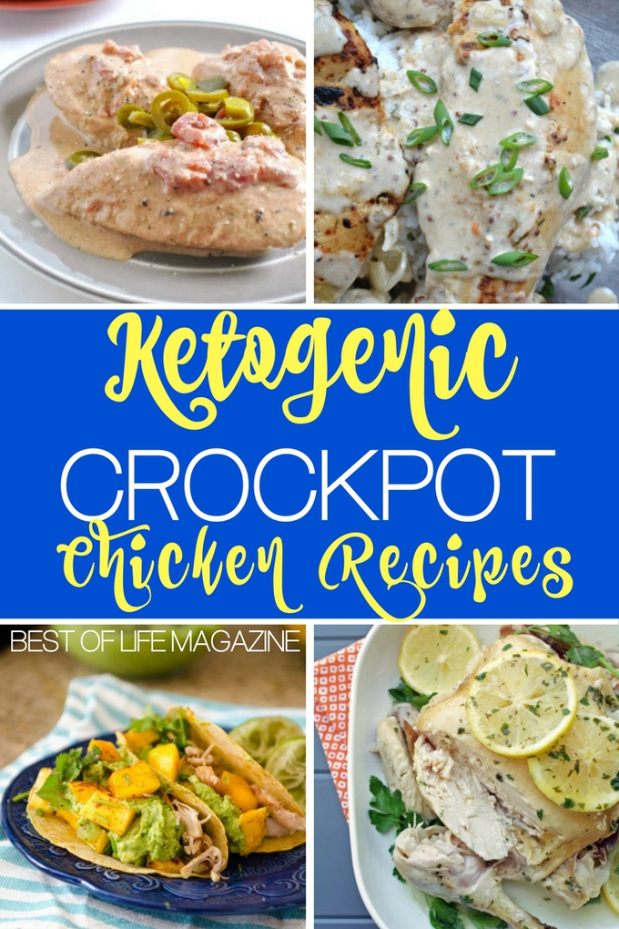 Sticking to your low carb keto diet and advancing your weight loss is easier with these delicious and easy crockpot keto chicken recipes. Ketogenic Recipes | Keto Diet Food | Crockpot Ketogenic Recipes | Low Carb Chicken Recipes | Low Carb Keto Recipes