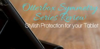 The Otterbox Symmetry Series iPad Mini case is a line of stylish protection for our tablets that keeps them whole even after a drop.