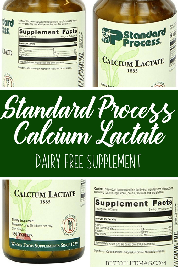Living with an allergy can be tough. This dairy free supplement, Standard Process calcium lactate, can help you get the nutrients you might be missing! Dairy Free Health Supplements | Dairy Free Tips | Dairy Free Lifestyle #dairyfree #STP