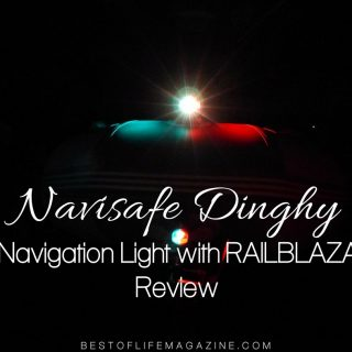 The Navisafe Dinghy Navigation Light with RAILBLAZA Attachment was our solution and could be the solution you've been looking for as well.