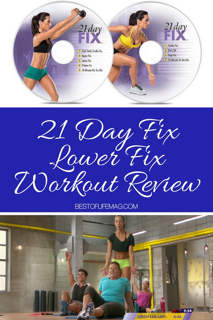 Up next in the cycle is the 21 Day Fix Lower Fix workout. This workout contains some cardio and LOTS of lower body exercises to get you in shape fast!