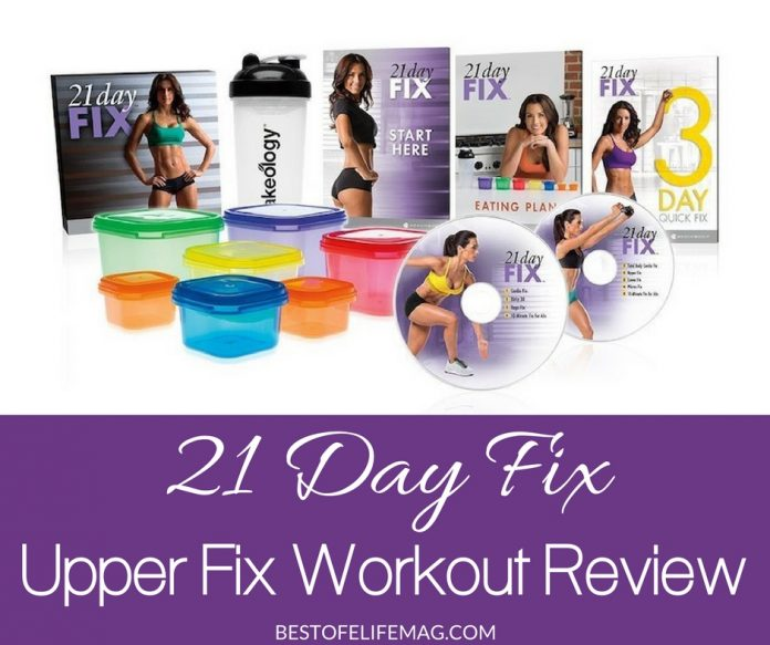 The 21 Day Fix Upper Fix workout program is an excellent way to burn calories, get in shape, and feel better both during and after using the 21 Day Fix program.