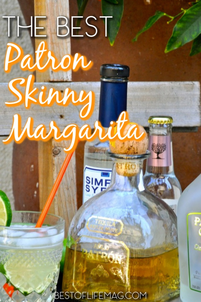 The quest for the best skinny margarita is over now that you have this Patron skinny margarita recipe with Patron Lime Citronge. Cocktail Recipes | Margarita Recipes | Drink Recipes | Skinny Margaritas #margarita