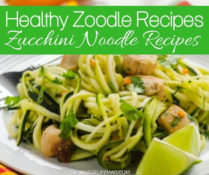 Zucchini noodle recipes are a great way to eat healthier, feel better and still enjoy those usually heavy noodle dishes without the guilt. How to Make Zucchini Noodles | How to Cook Zucchini Noodles | Zucchini Noodles Easy Recipes