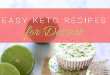Easy Keto dessert recipes can help ensure that you don't stray from your diet just because your sweet tooth is acting up again.
