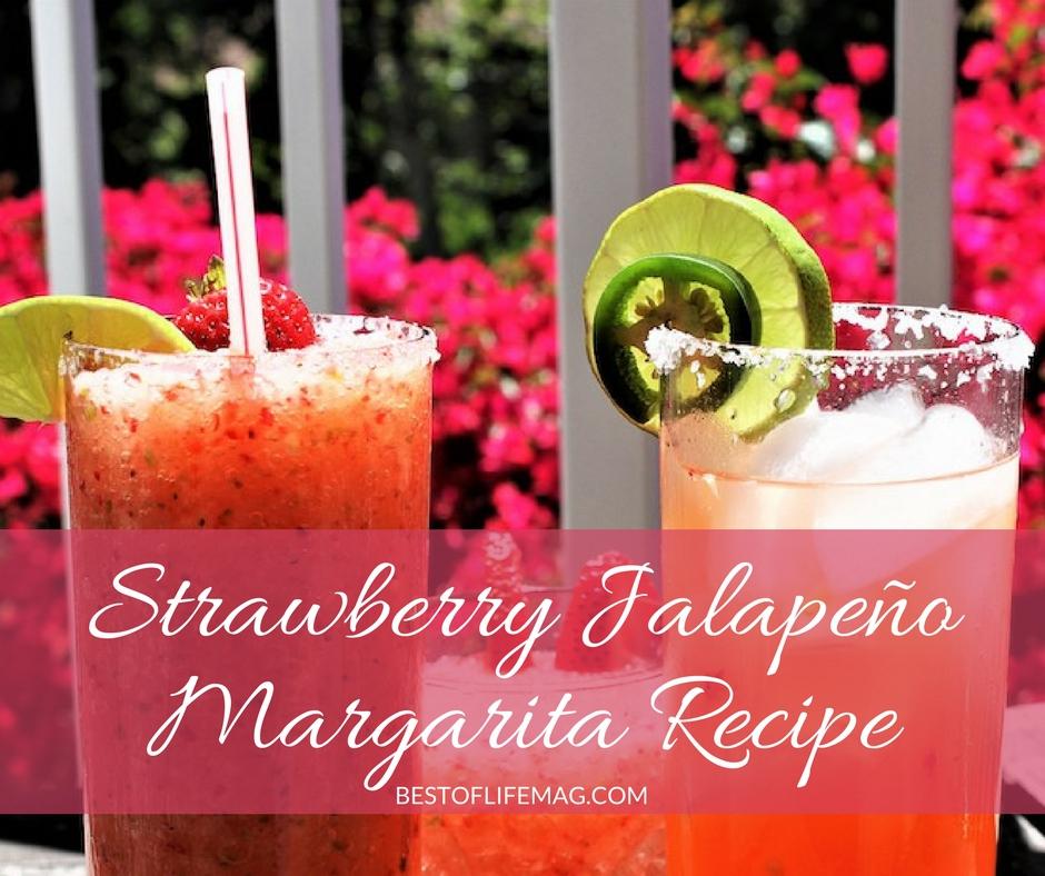 Strawberry Jalapeno Margarita Recipe On The Rocks