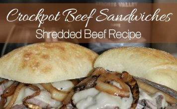 Crockpot beef sandwiches are so easy to make and very juicy, so tasty the whole family will love them! This shredded beef recipe is great for parties, busy weeknights, and more!