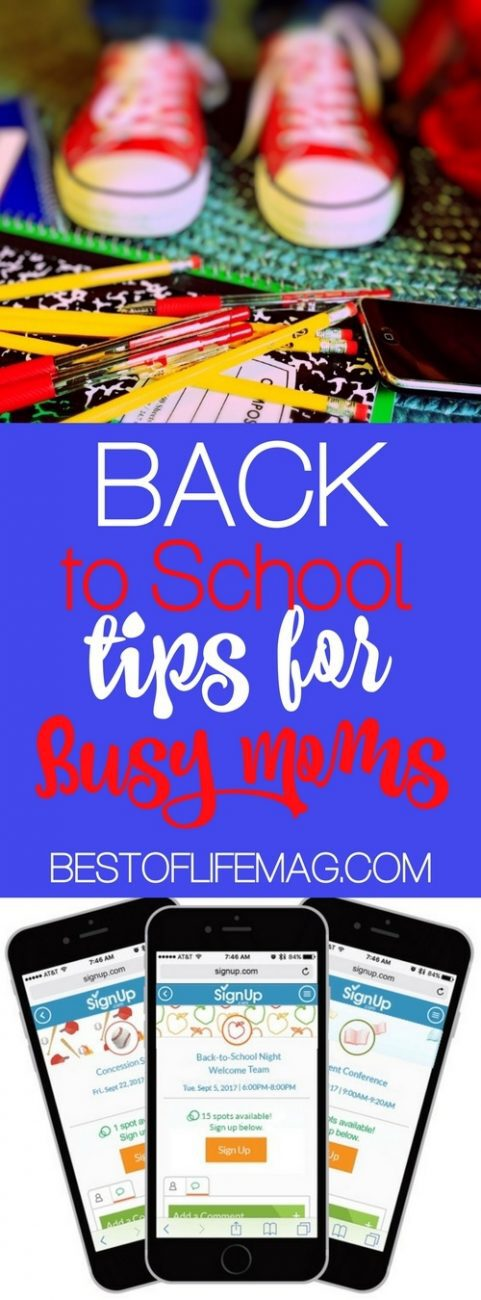 Back to school season is such a busy time of year! Stay sane - AND organized - with these back to school tips for busy moms. Back to School Tips | How to Stay Organized | Organization Tips for Moms | Bad Moms #parenting #back2school