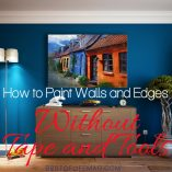 Paint edges without tools and youdon'thave to worry about how to paint without tape. Rest assured, it is an easy DIY process with beautiful results! DIY Paint Ideas | DIY Painting Tips | DIY Home Ideas | Painting Tips