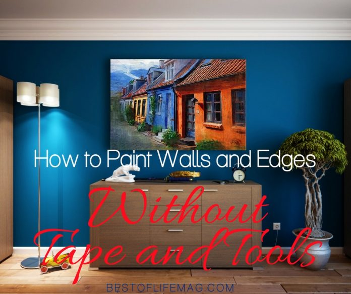 Paint edges without tools and you don't have to worry about how to paint without tape. Rest assured, it is an easy DIY process with beautiful results! DIY Paint Ideas | DIY Painting Tips | DIY Home Ideas | Painting Tips