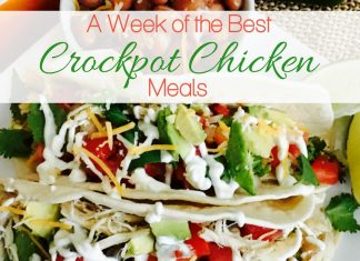 For one whole week, you can use different crockpot chicken recipes to fill out your week meal plan and have the answer to what's for dinner?