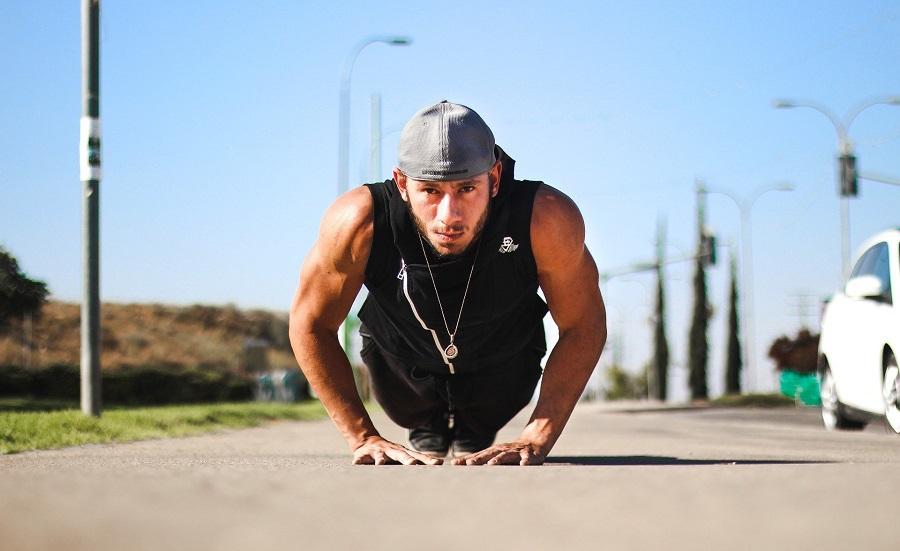 Jillian Michaels Banish Fat Boost Metabolism Get Results Fast Man Doing Push-Ups Outside