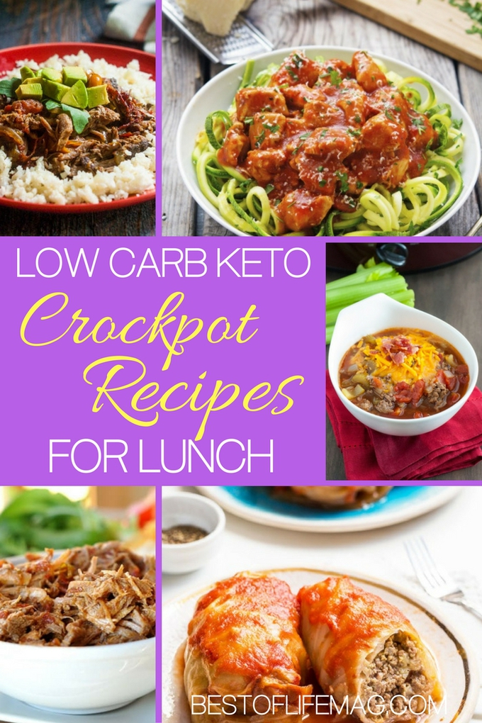 Use the knowledge of others to help you build out a complete menu of low carb keto crockpot recipes for lunch or any other meal of the day. Low Carb Lunch Recipes | Crockpot Recipes | Lunch Recipes | Easy Lunch Recipes | Light Lunch Recipes | Lunch Ideas for Work | Keto Crockpot Recipes via @amybarseghian