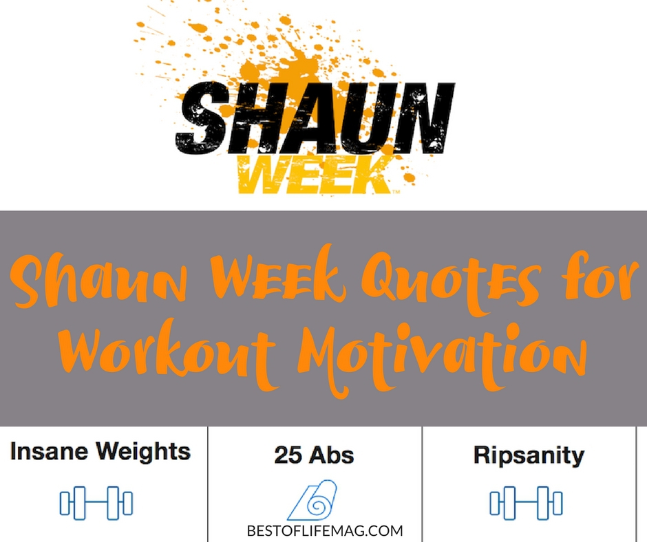 Magazine Quotes Simple Shaun Week Quotes For Workout Motivation  Best Of Life Magazine