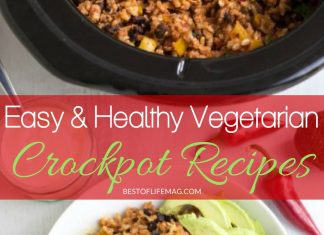 There are plenty of healthy vegetarian crockpot recipes that will keep even the pickiest of vegetarians happy and healthy. Vegetarian Recipes | Best Crockpot Recipes on Pinterest | Easy Crockpot Recipes | Meatless Crockpot Recipes | Easy Vegetarian Recipes
