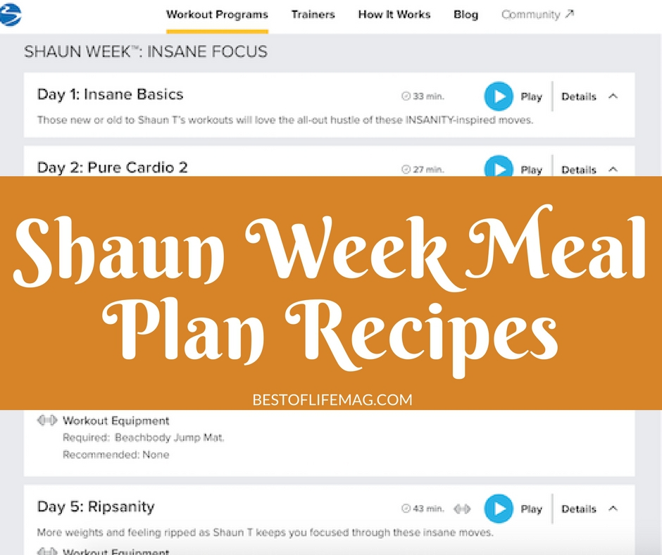 shaun week meal plan recipes the best of life magazine