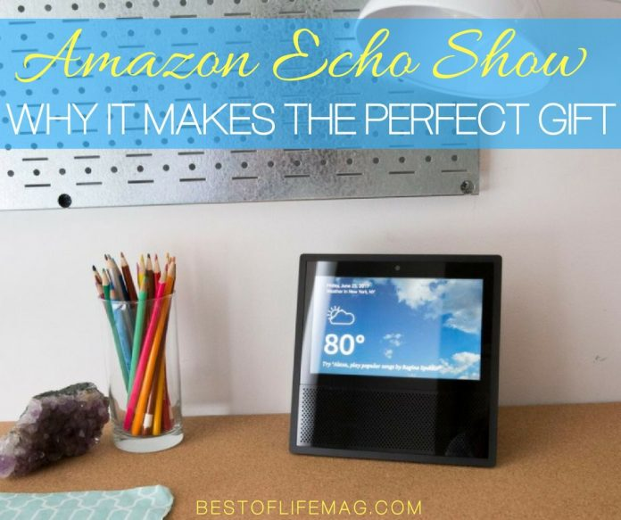 The Amazon Echo Show makes for the perfect tech gift by bringing loved ones closer and making life just that much easier.