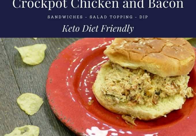 Fix it and forget it with this crockpot bacon and chicken recipe with red peppers that is keto diet friendly and offers a low carb dinner everyone will love. Easy Keto Recipes | Ketogenic Recipes with Chicken | Low Carb Recipes | Low Carb Recipes with Chicken | Low Carb Chicken Recipes | Keto Chicken Recipes