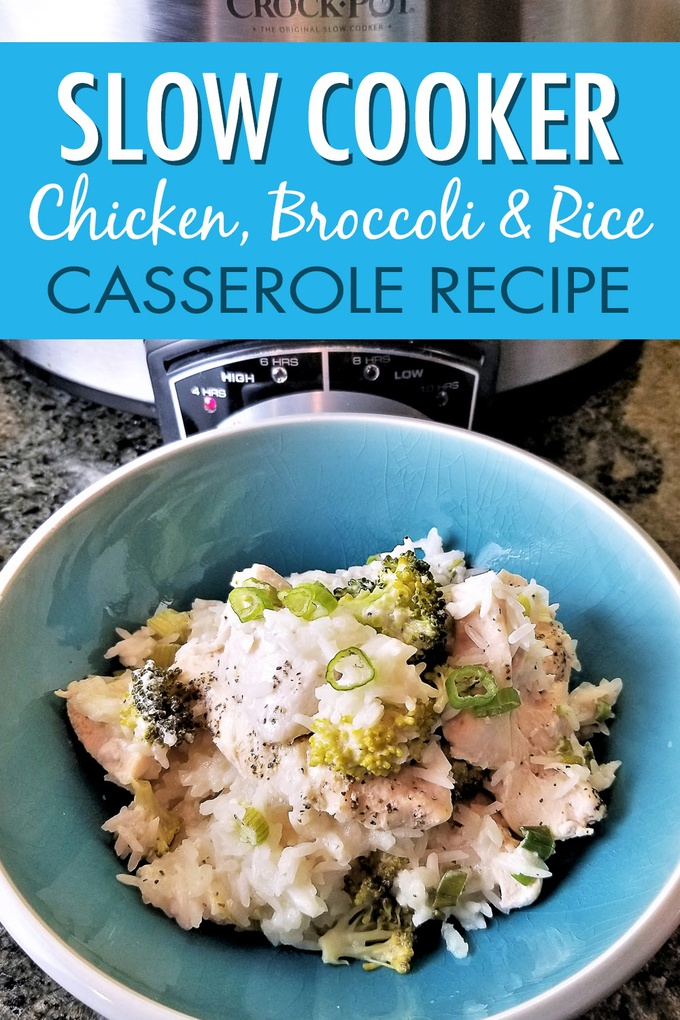 Enjoy this slow cooker chicken broccoli and rice casserole recipe that takes just minutes to prep in your crock pot! Add to your weekly crockpot chicken meal plan for easy weeknight meals. Crockpot Recipes for Two | Crockpot Recipes with Chicken | Chicken Dinner Recipes | Slow Cooker Chicken Recipes | Healthy Crockpot Recipes | Slow Cooker Recipe Chicken | Easy Crockpot Dinner Recipes #crockpot #crockpotrecipes