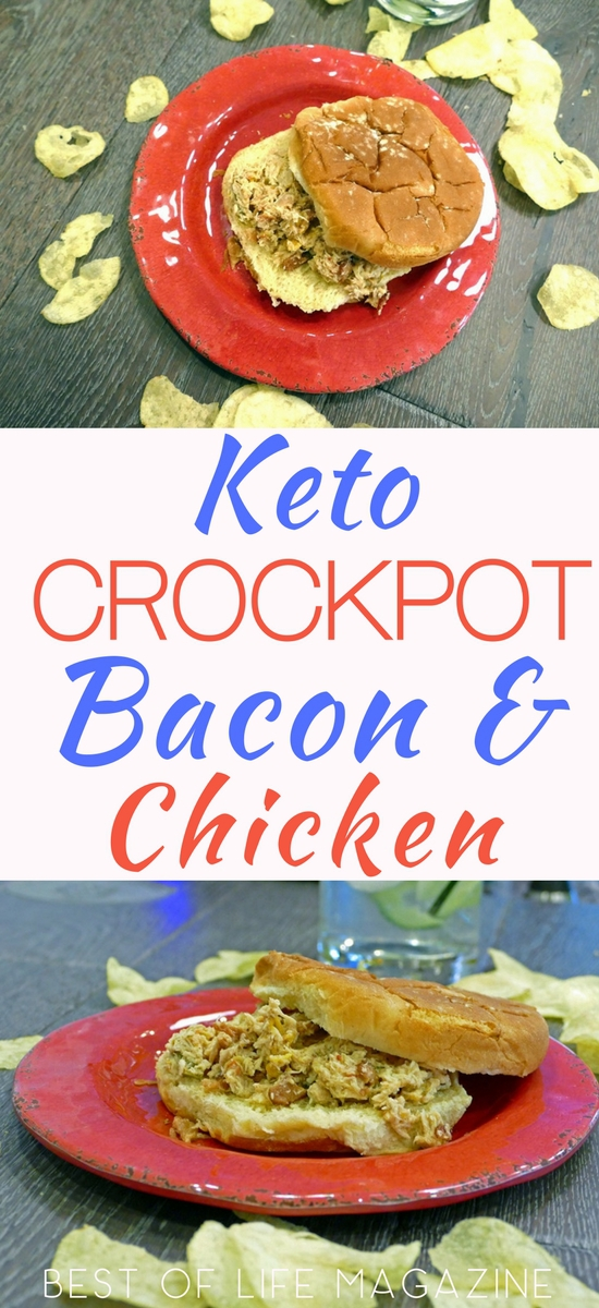Fix it and forget it with this crockpot bacon and chicken recipe with red peppers that is keto diet friendly and a low carb dinner everyone will love. Low Carb Chicken Recipes | Keto Chicken Recipes Crockpot | Slow Cooker Low Carb Recipes | Crockpot Low Carb Recipes | Low Carb Chicken and Bacon Wraps | Keto Lettuce Wrap Recipes | Low Carb Dinner Recipes | Weight Loss Crockpot Recipes | Low Carb Lunch Recipes #keto #crockpot via @amybarseghian