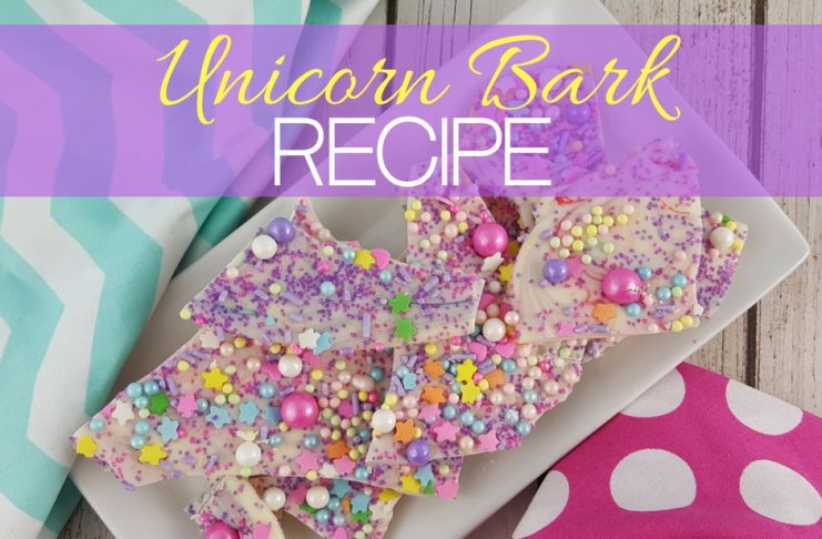 Unicorn bark is a fantasy filled interpretation of the universally favorite candy bark that you can make in your own kitchen.