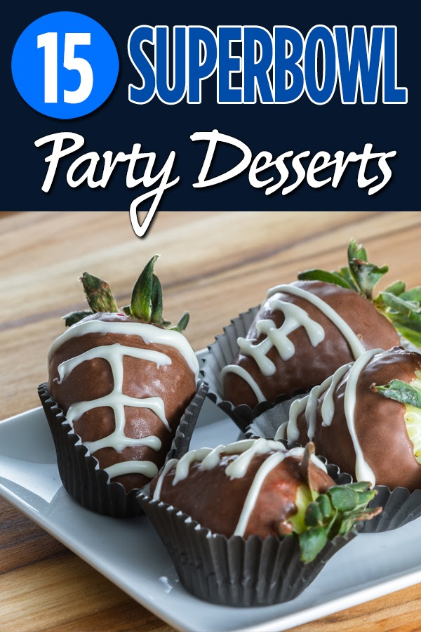 Super Bowl Party desserts are a great way to amp up the party and keep guests happy during the big game. Super Bowl Party Recipes | Football Recipes | Game Day Recipes | Party Food | Party Planning Recipes | Football Game Food #superbowl #desserts via @amybarseghian