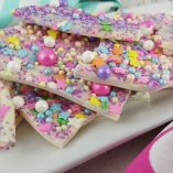 Make this unicorn bark recipe with your children for fantasy filled fun! Candy bark also makes a great party favor or small gift for friends and teachers. Unicorn Bark Video | Candy Bark Video | Recipes for Kids | Unicorn Party | Unicorn Recipe | Unicorn Food