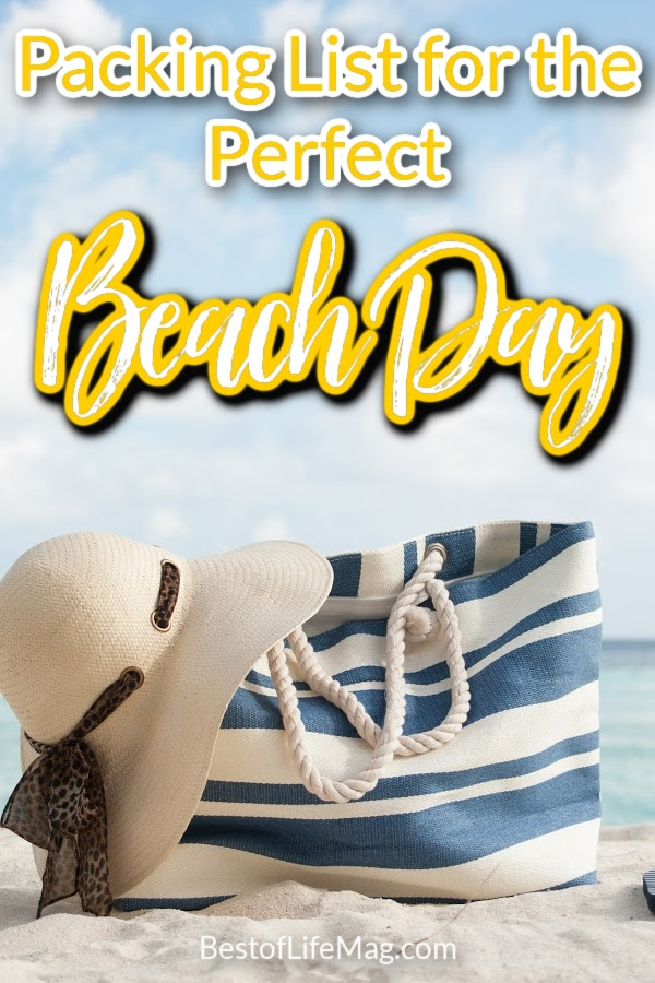 Packing for a day at the beach is easy with this list of beach bag essentials. It's all about figuring out what to pack for the beach and tossing them in your beach tote. Day at the Beach | Best Beach Bag | Beach Day Essentials | Packing List | Beach List | Beach Checklist | #beachday #traveltips via @amybarseghian