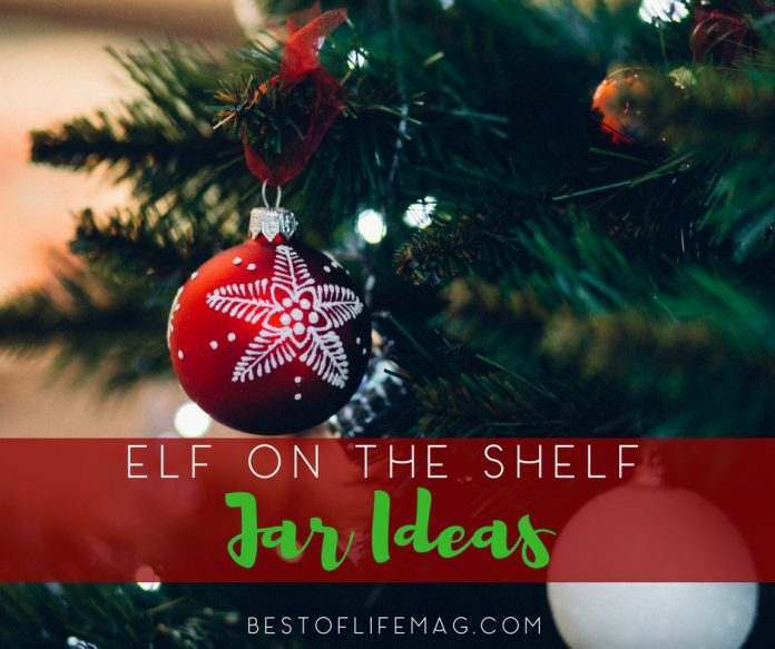 Carry your Elf on the Shelf with you with these fun and creative Elf on the Shelf Jar Ideas. Elf on the Shelf Ideas | Creative Elf on the Shelf Ideas | Things to Do with your Elf on the Shelf | Elf on the Shelf Ideas Little Kids