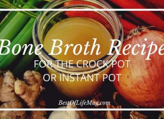 You can prepare this crock pot bone broth in fifteen minutes and let it slow cook. This bone broth recipe also converts to an instant pot bone broth recipe! Bone Broth Diet | Bone Broth Soup | Bone Broth Benefits | Crock Pot Bone Broth for Dogs