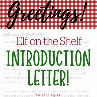 Welcome Elf on the Shelf with this memory making Elf on the Shelf introduction letter printable. Elf on the Shelf Ideas | Introduce Elf on the Shelf | Start Elf on the Shelf | How to Start Elf on a Shelf