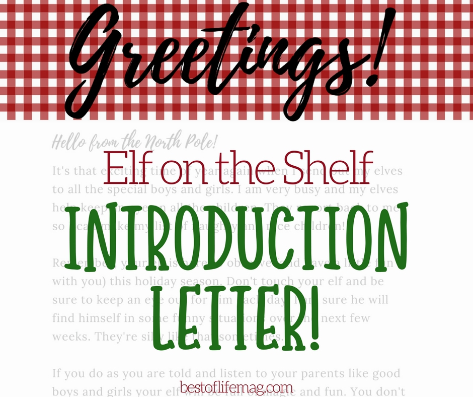 elf on the shelf introduction letter printable best of life magazine