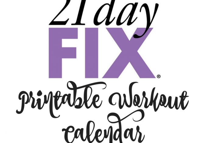Use this 21 Day Fix printable workout calendar to stay on track with your 21 Day Fix workout schedule! 21 Day Fix Printables | 21 Day Fix Workouts | Workout Tips | Workout Schedule | Fitness Calendar