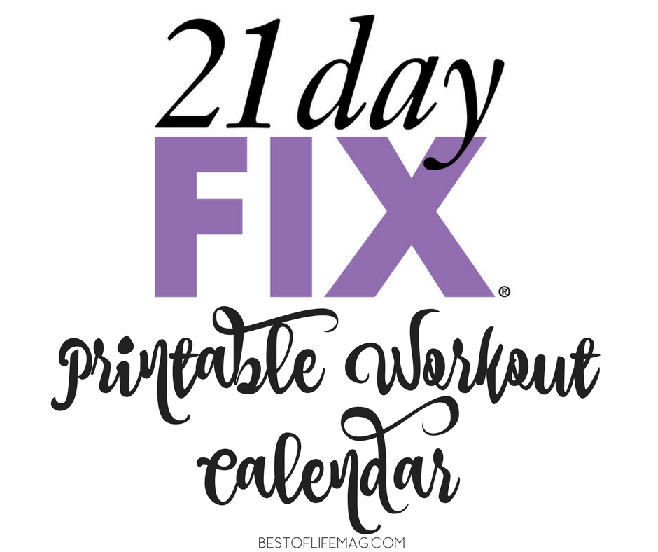 It's just a photo of Transformative 21 Day Fix Workout Schedule Printable
