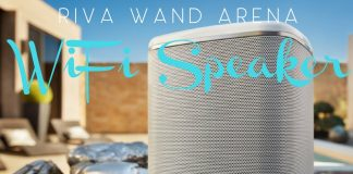 The RIVA WAND ARENA takes multi-room music to a new level with WiFi and makes listening to music simple with Google Chromecast built right in. Bluetooth Speakers | Portable Speakers | WiFi Speakers | Tech Gift Ideas | Tech Gadgets